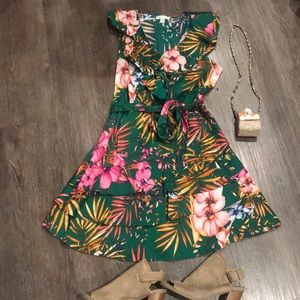 NWOT tropical dress